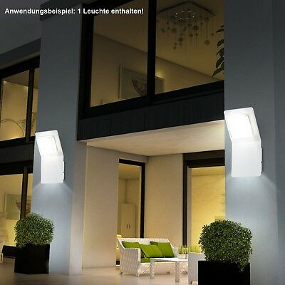 7w 12w led au en wand lampe leuchte garten beleuchtung. Black Bedroom Furniture Sets. Home Design Ideas