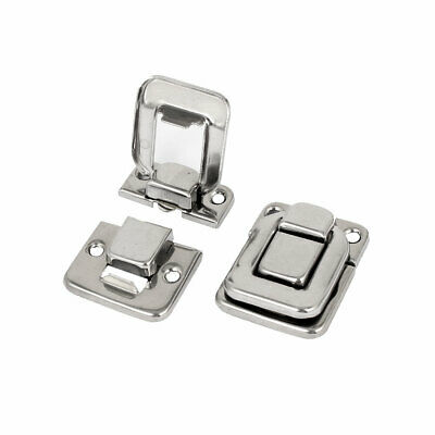 Toolbox Cases Iron Nickel Plating Box Toggle Latch Hasp 40mm Length 2pcs
