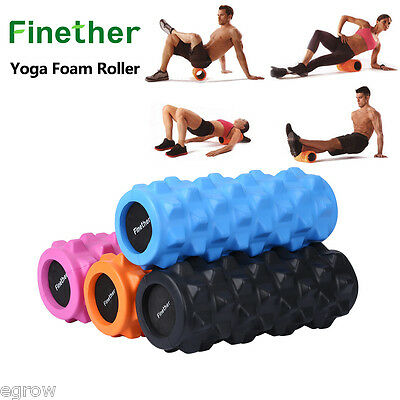 Grid Foam Roller EVA Trigger Point Gym Sports Massage Physio Injury Yoga Roller
