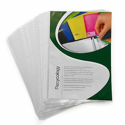 Premium Clear Punched Pockets Sleeves Poly Pockets A4 - Pack of 50 by Pentel