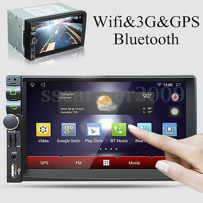 "Android 4.4 Double 2 Din 7"" Car Stereo GPS MP5 Player Bluetooth Radio WiFi 3G"