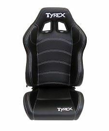 Raptor 4x4 Tyrex Sports Seat Total Black Faux Leather Off Road Bucket Racing