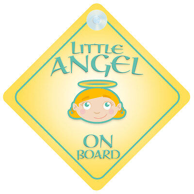 Little Angel On Board Car Sign New Baby/Child Gift/Present
