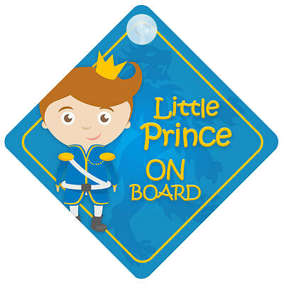 BLP009 Little Prince On Board Car Sign New Baby/Child Gift/Present