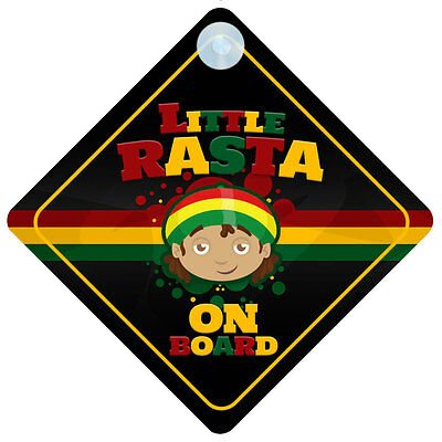 Little Rasta On Board Car Sign New Baby/Child Gift/Present