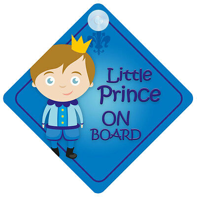 BLP002 Little Prince On Board Car Sign New Baby/Child Gift/Present