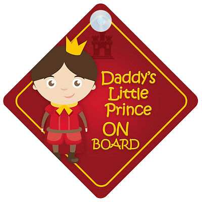 DLP012 Daddy/'s Little Princess On Board Car Sign New Baby//Child Gift//Present