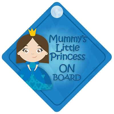 MLP014 Mummy's Little Princess On Board Car Sign New Baby/Child Gift/Present