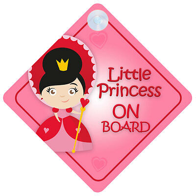 LP007 Little Princess On Board Car Sign New Baby/Child Gift/Present