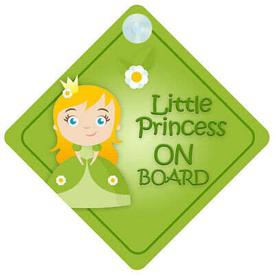 LP008 Little Princess On Board Car Sign New Baby/Child Gift/Present