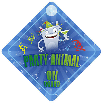 Party Animal On Board Car Sign New Baby/Child Gift/Present