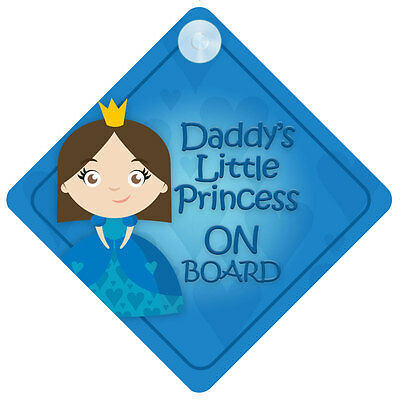 DLP014 Daddy's Little Princess On Board Car Sign New Baby/Child Gift/Present
