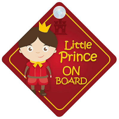 BLP001 Little Prince On Board Car Sign New Baby/Child Gift/Present