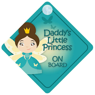 DLP015 Daddy's Little Princess On Board Car Sign New Baby/Child Gift/Present