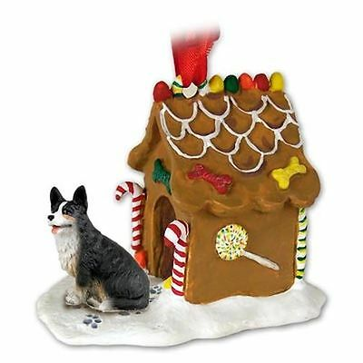 Welsh CORGI Cardigan Dog Ginger Bread Gingerbread House Christmas ORNAMENT