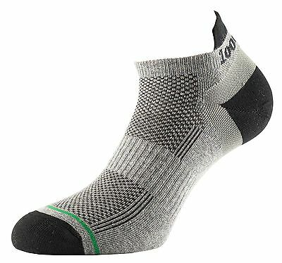 1000 Mile DOUBLE LAYER Trainer Liner Sock Black/Grey - XL