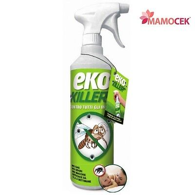EKO KILLER EKOKILLER INSETTICIDA ANTIPARASSITARIO Spray 750ml BIO insetti KILL