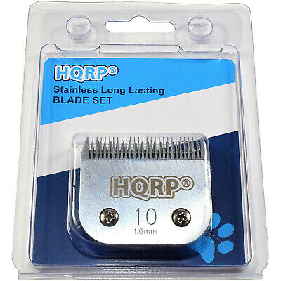 "HQRP Size-10 Animal Clipper Blade for Wahl KM Pet Grooming (hair 1/16"" -1.6mm)"