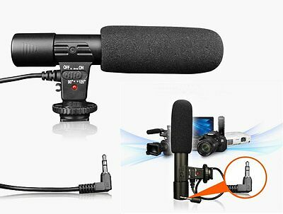 MIC-01 3.5mm Stereo Studio Digital Recording Microphone For Canon Nikon Pentax