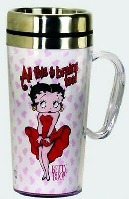 Betty Boop Acrylic & Stainless Steel Travel Mug With Handle: All This...