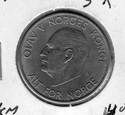1964 Norway 5k. Very nice looking coin. Includes Free shipping in US.