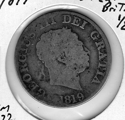 1819 Great Britain 1/2 C. Very nice looking coin. Includes Free shipping in US.