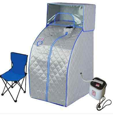 Sauna Tent Portable Steam Indoor Loss Weight Slimming Skin Spa w/ Head Cover NEW