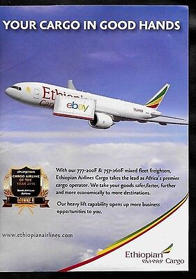 Ethiopian Airlines Boeing 777-200F Air Freighter Cargo Airline Of The Year Ad
