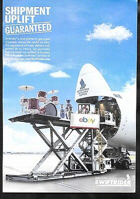 Singapore Airlines Boeing 747-400F Front Load Air Cargo Swiftrider Service Ad