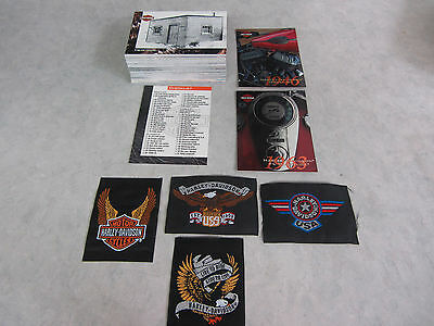 1994 Skybox Harley Davidson Motorcycle Complete 90 Trading Card Set + Patches