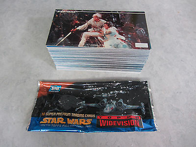 Star Wars Topps Widevision Trading Cards Complete Card Set ~ 120 Cards ~ 1994