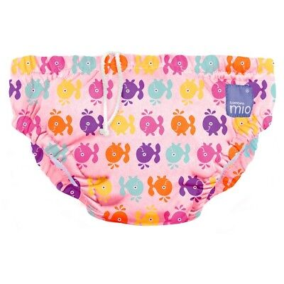 NEW Pink Whale Design Reusable Baby Swim Nappy Medium by Bambino Mio