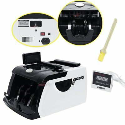 Money Bill Counter Cash Counting Machine Bank Currency Counterfeit Checker UV/MG