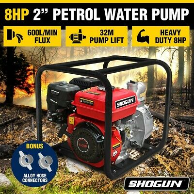 "New Shogun 8HP 2"" Petrol Water Transfer Pump High Flow Irrigation Fire Fighting"