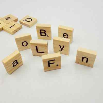 100x Square Wooden Alphabet Scrabble Tiles English Letter For Craft Kid's Toy UK