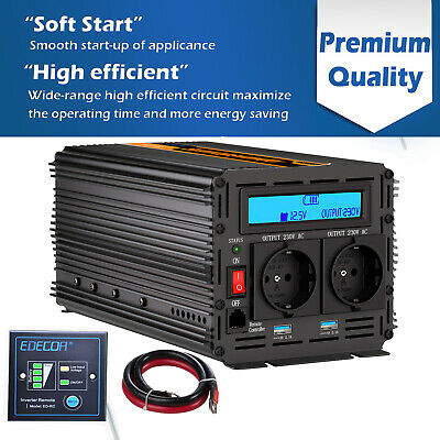 Power Inverter 2000W 4000W DC 12V AC 220V inverter Convertitore Sortstart 2 USB