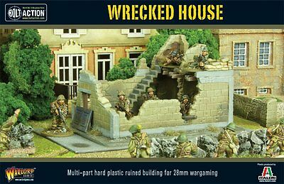 Warlord Bolt Action Plastic Wrecked House 28mm Terrain Scenery Free UK P&P