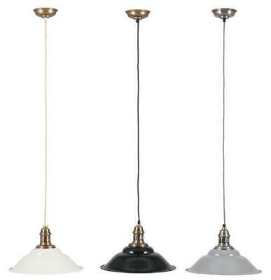 Retro Ceiling Light Suspension Pendant with Metal Lamp Shade Adjustable Height
