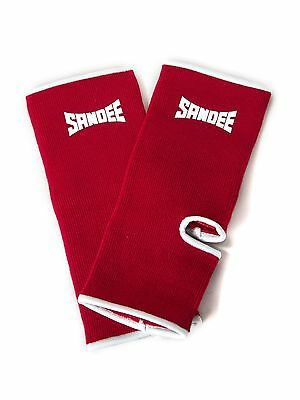 Sandee Premium Red & White Ankle Supports (pair) Muay Thai Protection Anklet
