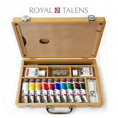 Royal Talens - Van Gogh Acrylic Paint Artist Set in Premium Wooden Case
