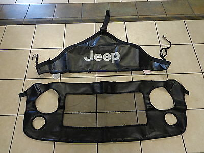 07-17 Jeep Wrangler New Front End Bra Hood Cover Mopar Genuine Oem 2 Pcs