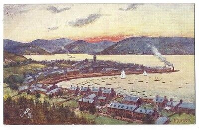 GOUROCK View of the Town, Tuck Oilette Postcard, Unused