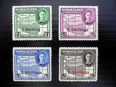 SOMALILAND 1951 G.VI SG132/5 Mounted Mint NEW PRICE FP7960