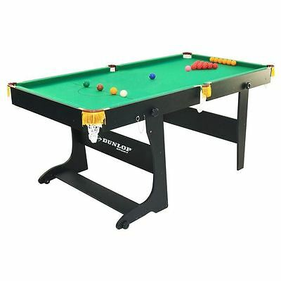 Dunlop 6ft Snooker Table Vertical Folding Leg System Play Game Sports