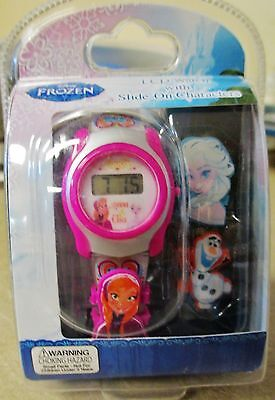 NEW Frozen Elsa Anna Disney Girl LCD Watch With Funny Design Band FNFKD006