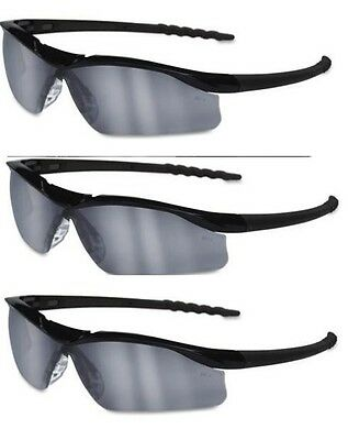 12-Pair MCR Safety DL1130 Dallas Safety Glasses with Polished Black Frame and 3.0 Green Shade Lens