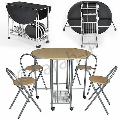 extending space saving dining table and 4 chairs kitchen foldable drop