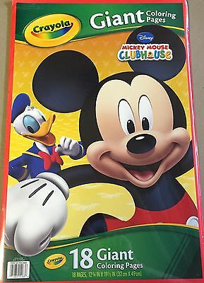 CRAYOLA GIANT COLORING PAGES DISNEY MICKEY MOUSE CLUBHOUSE - 18 ...