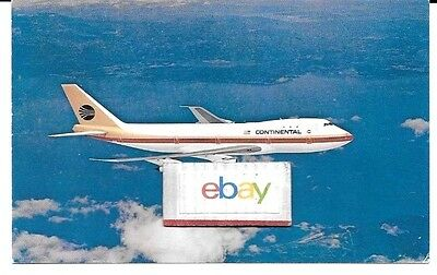 Continental Airlines Boeing 747-124 Proud Bird Of Pacific Airline Issue Postcard