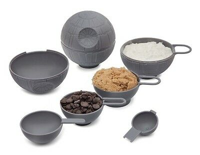 Star Wars Death Star Measuring Cups Tablespoon Stack Set Kitchen Baking Cooking
